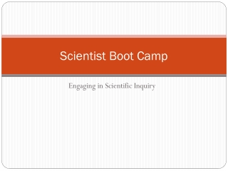 Scientist Boot Camp