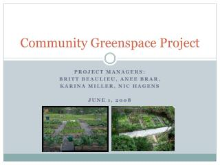 Community Greenspace Project