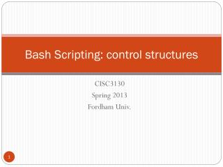 Bash Scripting: control structures