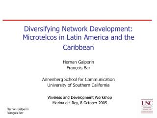 Diversifying Network Development: Microtelcos in Latin America and the Caribbean