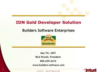IDN Gold Developer Solution