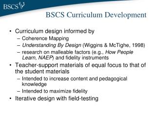 BSCS Curriculum Development
