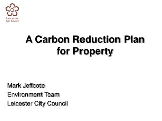 A Carbon Reduction Plan for Property