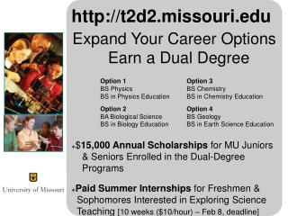 t2d2.missouri Expand Your Career Options Earn a Dual Degree Option 1 Option 3