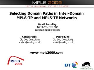 Selecting Domain Paths in Inter-Domain MPLS-TP and MPLS-TE Networks