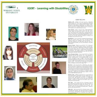 IGERT - Learning with Disabilities