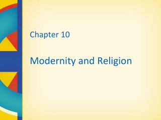 Chapter 10 Modernity and Religion