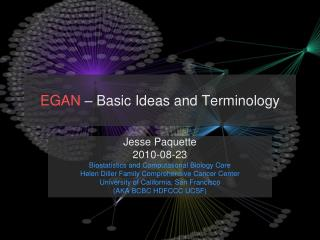 EGAN  – Basic Ideas and Terminology