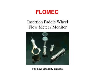 Insertion Paddle Wheel Flow Meter / Monitor