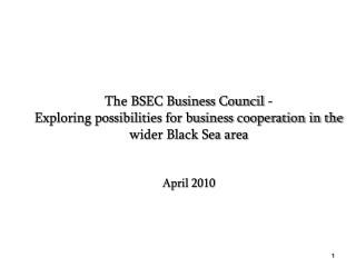 The  Business Council  of the Organization  of the Black Sea Economic Cooperation  (BSEC BC)