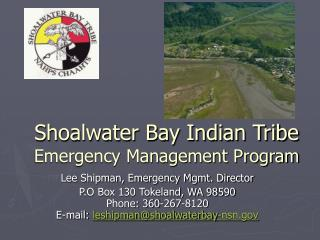Shoalwater Bay Indian Tribe Emergency Management Program