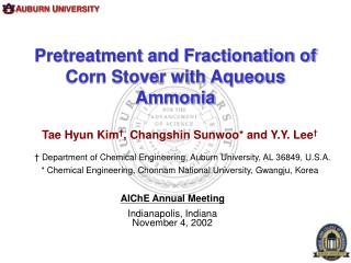Pretreatment and Fractionation of  Corn Stover with Aqueous Ammonia