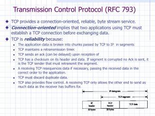 Transmission Control Protocol (RFC 793)