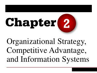 Organizational Strategy, Competitive Advantage, and Information Systems