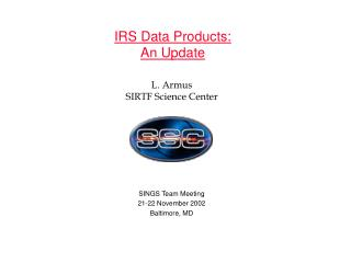 IRS Data Products: An Update