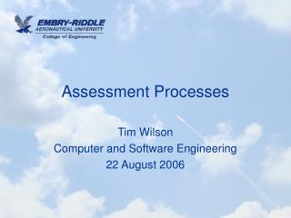 Assessment Processes
