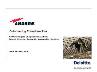 Outsourcing Transition Risk