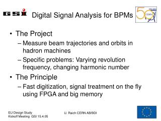 Digital Signal Analysis for BPMs