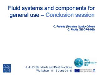 HL-LHC Standards and Best Practices Workshop (11-13 June 2014 )