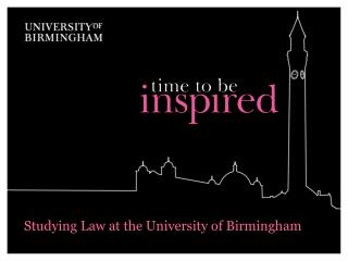 Studying Law at the University of Birmingham