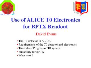 Use of ALICE T0 Electronics for BPTX Readout