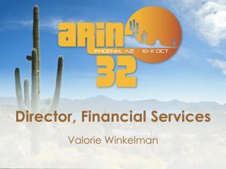 Director, Financial Services