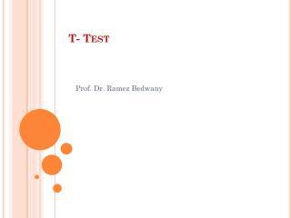 T- Test