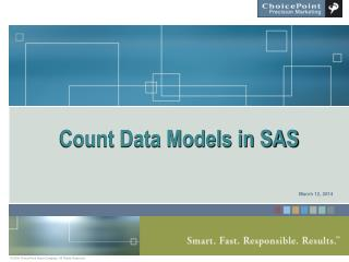 Count Data Models in SAS