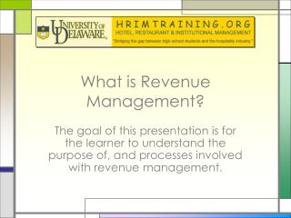 What is Revenue Management?