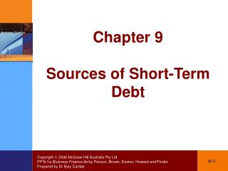 Chapter 9 Sources of Short-Term Debt