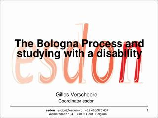 The Bologna Process and studying with a disability
