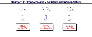 Chapter 14: Organometallics, structure and nomenclature