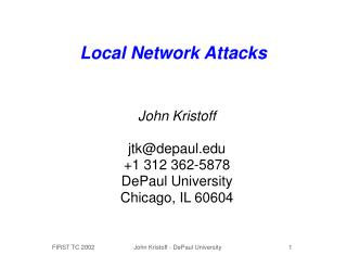 Local Network Attacks