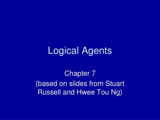 Logical Agents