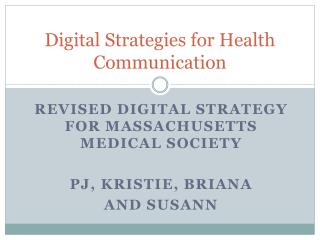 Digital Strategies for Health Communication