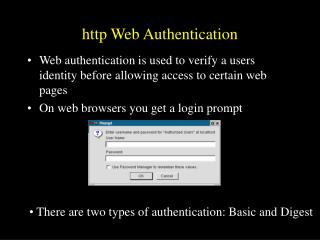http Web Authentication