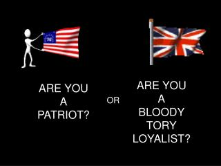 ARE YOU A PATRIOT?