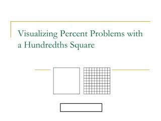 Visualizing Percent Problems with a Hundredths Square