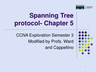 Spanning Tree protocol- Chapter 5