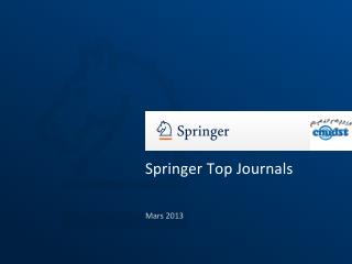 Springer Top Journals
