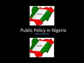 Public Policy in Nigeria