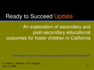 Ready to Succeed  Update