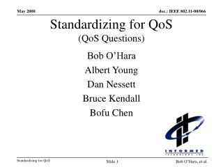 Standardizing for QoS (QoS Questions)