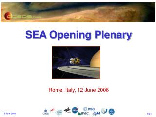 SEA Opening Plenary