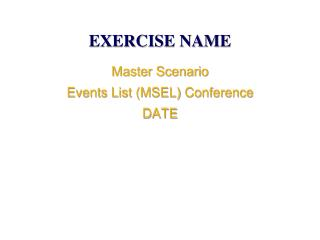 EXERCISE NAME