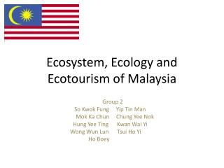Ecosystem, Ecology and Ecotourism of Malaysia