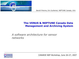The VENUS & NEPTUNE Canada Data Management and Archiving System
