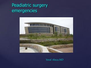 Peadiatric  surgery emergencies