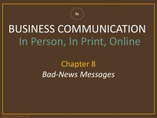 Chapter 8 Bad-News Messages