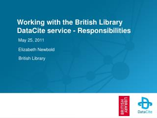 Working with the British Library DataCite service - Responsibilities